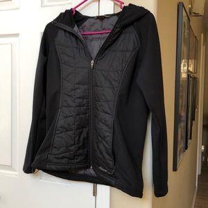 Black Eddie Bauer Hooded Shell Jacket